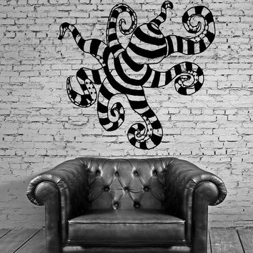 Funny Octopus Ocean Sea Marine Animal Decor Wall MURAL Vinyl Art Sticker Unique Gift M502