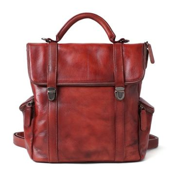 BLUESEBE HANDMADE FULL GRAIN LEATHER BACKPACK DT520 - 5 COLORS AVAILABLE
