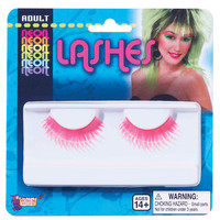 Neon Eye Lashes - Pink