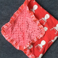 In Stock -Red Deer Minky blanket