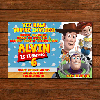 Toy Story Inspired Design Invitation