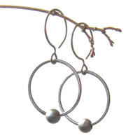 modern silver earrings, minimalist metalwork silver rings, fine and sterling silver
