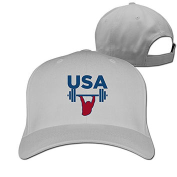 Usa Weightlifting 2016 Rio Sport Adjustable Fitted Hats Baseball Caps
