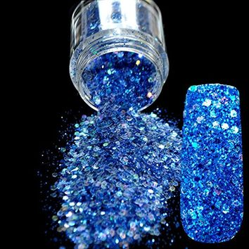 Spirit Blue Glitter Nail Art Tool DIY Glitter Mix Manicure 3D Powder Acrylic Pentagon Sequins Sheet Nail...