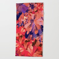 red romance Beach Towel by Bunny Noir