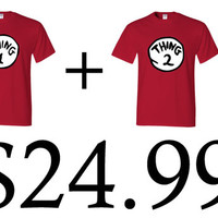thing 1 and thing 2 couple tshirt