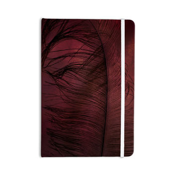 "Robin Dickinson ""Plumtickled"" Maroon Red Everything Notebook"
