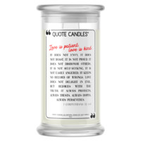 Love is Patient, Love is Kind | Quote Candle®