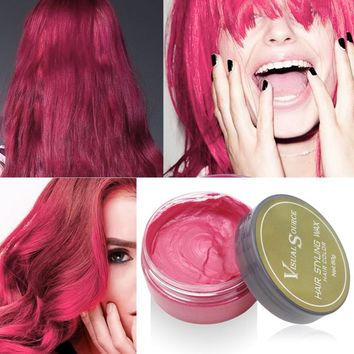 Temporary Hair Color Wax in 5 different colors