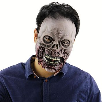 Party Masks Halloween Rotten Zombie Skull Halloween Masks Horror Scary Haunted House Room Escape Supplies Halloween Mask Latex