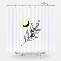 Olive Branch Shower Curtain