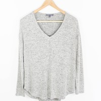 Eris Long Sleeve V-Neck Top