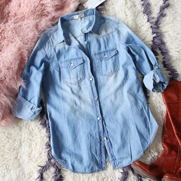 The Tanner Denim Shirt in Medium Wash