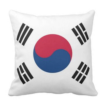 South Korean Flag on American MoJo Pillow