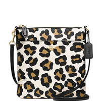 Coach North South Swingpack in Ocelot Print Leather