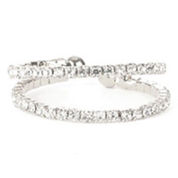Pave Crystal Cuff Ring