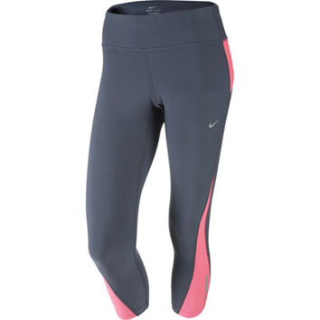 Nike Pro Racer Capri Crop Legging Dri-FIT Grey with Pink Compression 547603-084