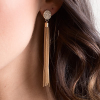 Take a Shine Gold Pave Earrings