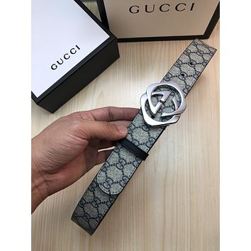 Boys & Men GUCCI Fashion Buckle Belt Leather Belt