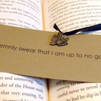 I Solemnly Swear Harry Potter Quote Owl by prettypetalspaper