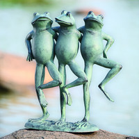 SPI Aluminum Dancing Frog Trio for Outdoors or Office