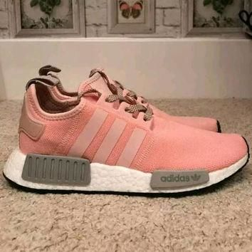 Swarovski Adidas Nmd R1 Shoes Adidas Pink Women's shoes Originals Customized Trainers