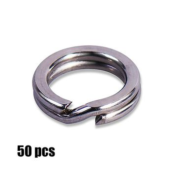 50pcs High duty stainless steel split ring Lure ring for blank hard bait, fishing accessories, parts, tackle craft