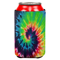 Tie Dye All Over Can Cooler