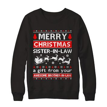 Merry Christmas Sister-In-Law A Gift From Your Brother-In-Law Sweater