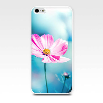 flower iphone case 5s floral iphone 6 case pink teal cosmos iphone case 4s girly iphone case 5 nature iphone case 4 botanical case art blue
