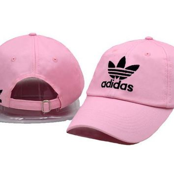 Pink Adidas Logo Cotton Baseball Golf Sports Cap Hats