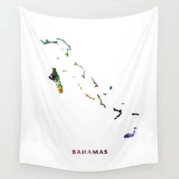 Bahamas Wall Tapestry by monnprint