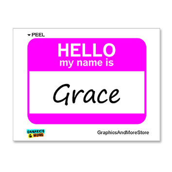 Grace Hello My Name Is Sticker