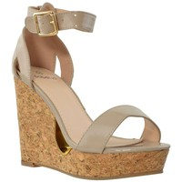 Cork Wedge Platform Sandal