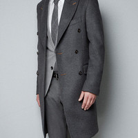 TAILORED COAT WITH CONTRASTING SEAMS - Jackets - Man - ZARA United States