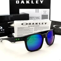 NEW RARE Oakley GARAGE ROCK Polished Black FRAME Jade Iridium LENSE