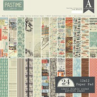 Authentique Pastime Scrapbook Pattern Paper 12×12 Paper Pad | Scrapbook Galleria Online Shop