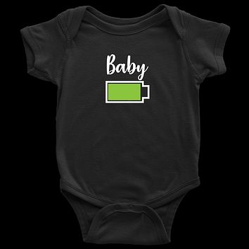 Baby - Full Battery Onesuit - Funny Family Matching Shirt