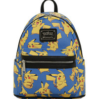 Loungefly Pokemon Pikachu Allover Print Mini Backpack