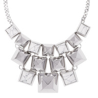 Vince Camuto Pyramid Stud Necklace