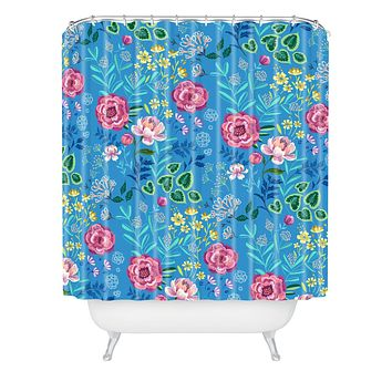 Pimlada Phuapradit Blue Garden Shower Curtain