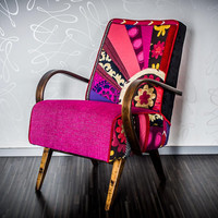 "vintage patchwork armchair ""In Bloom"""