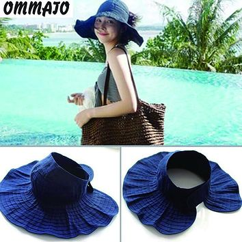 [OMMATO] summer straw panamas fedora hat for women England Style Vintage Sinamay Fascinator hat female girl TST052