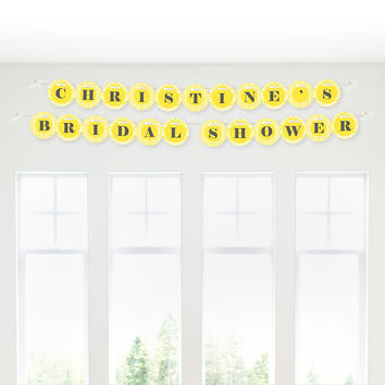 Chevron Yellow - Personalized Bridal Shower Garland Letter Banners