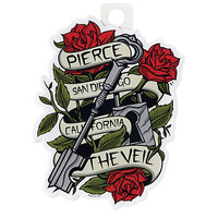 Pierce The Veil Banner Rose Key Sticker