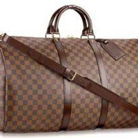 Louis Vuitton Damier Keepall 55 with strap