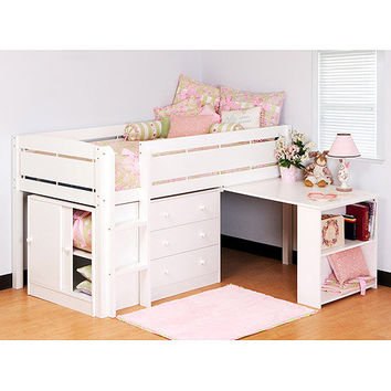 Walmart: Canwood Whistler Storage Loft Bed with Desk Bundle, White