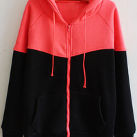 Black and Red Knitted Jacket