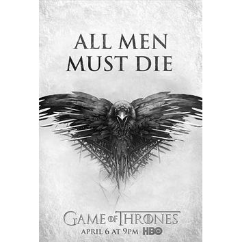 Game Of Thrones poster Metal Sign Wall Art 8in x 12in Black and White
