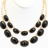 Black Onyx Elizabeth Necklace Set - Necklace Set